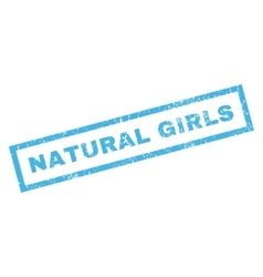 Natural girls rubber stamp vector