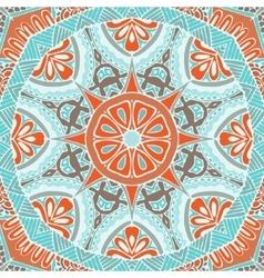 Ndian floral grunge mandala tribal pattern vector