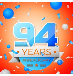 Ninety four years anniversary celebration on vector