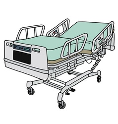 Position hospital bed vector