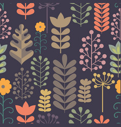 seamless pattern with stylized branches vector image vector image