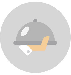 serving tray in hand vector image