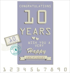 Template of anniversary jubilee or birthday card vector