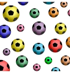 The pattern of color football balls vector image vector image