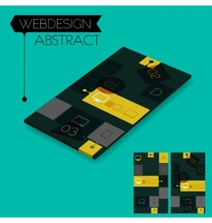Three dimensional isometric concept with vector image