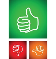 Thumbs up set vector