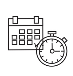 Time planning the clock and calendar vector