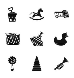 Toys icon set simple style vector