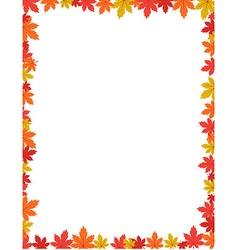 Autumn border design vector