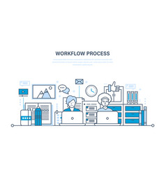 Workflow workplace environment soft hardware vector