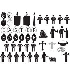 People pictogram for easter vector