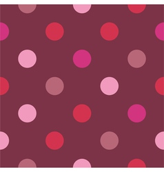 Seamless red pattern or polka dots background vector