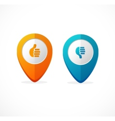 Map pointer icon pin vector