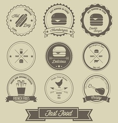 Fast food vintage label vector