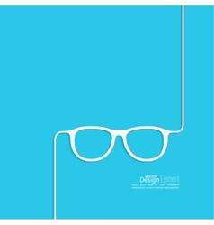 Geek glasses icon vector