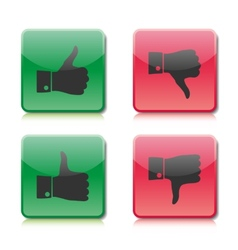 A set of buttons like and dislike vector image