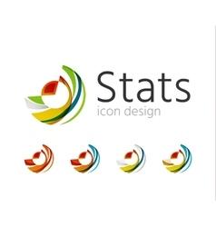 Statistics company logo set vector