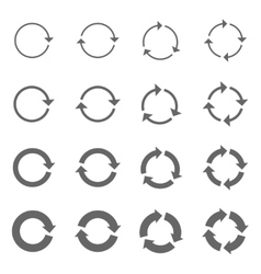 Rotation Arrows Set vector image