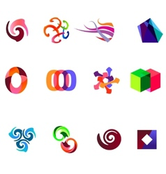 12 colorful symbols set 19 vector