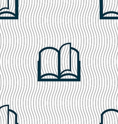 Book sign icon open book symbol seamless pattern vector