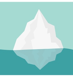 Iceberg blue water flat design winter background vector