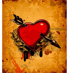 Valentine grunge background vector