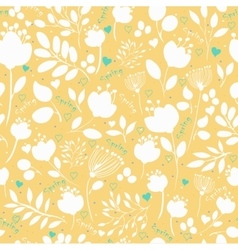 Graceful spring flowers seamless pattern vector
