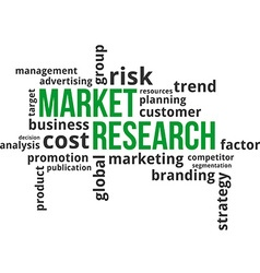 Word cloud market research vector