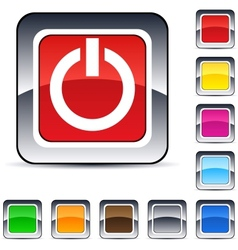 Power square button vector