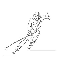 alpine skiing winter sport extreme vector image