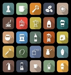 Barista flat icon with long shadow vector