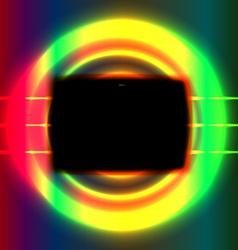 Black screen vector image vector image