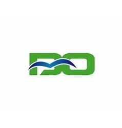 Bo initial company group logo vector