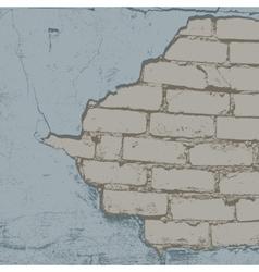 Brick damaged color vector