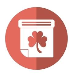 Calendar clover st patrick day irish culture vector