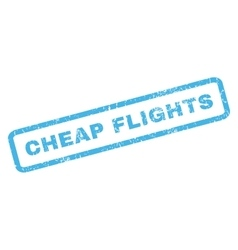 Cheap flights rubber stamp vector
