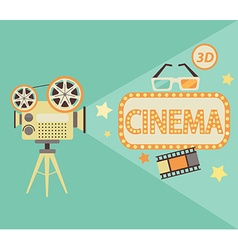 Cinema concept in retro style vector image