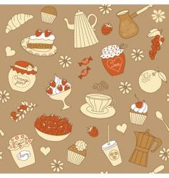 dessert pattern vector image vector image