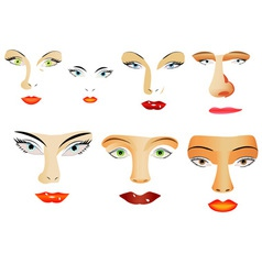 Face elements vector image vector image
