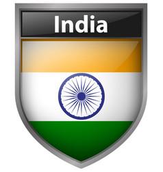 Flag icon design for india vector