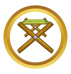 Folding table icon vector
