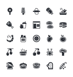 Food vegetables icons 7 vector