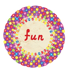 Funny round frame for kids with toys vector image