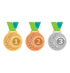 Gold medal icon silver medal icon bronze medal vector