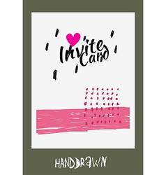 Handdraw card vector