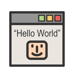 Hello world program vector