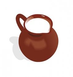 jug of milk vector image