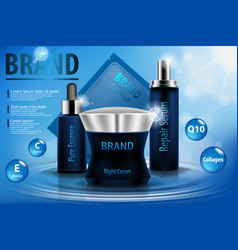 Moisturizing cosmetic ads template 3d vector