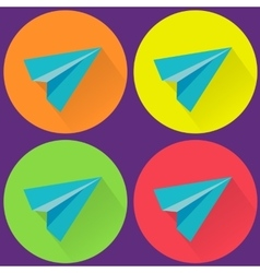 Paper plane icon symbol set vector