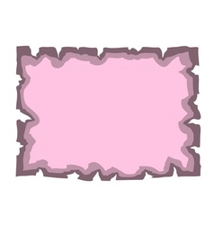 Parchment old paper Empty cartoon banner pink vector image vector image